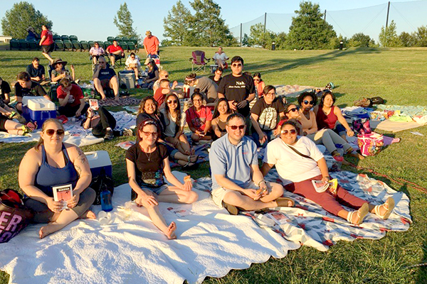 TRIO students attending Shakespeare in the Park