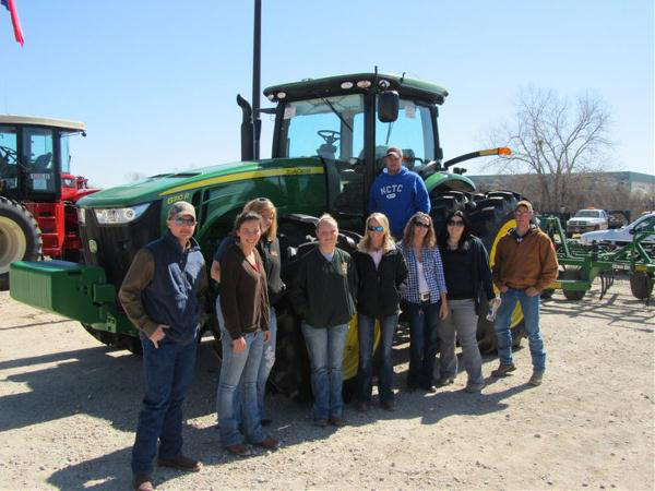Farm & Ranch Students with a tractor