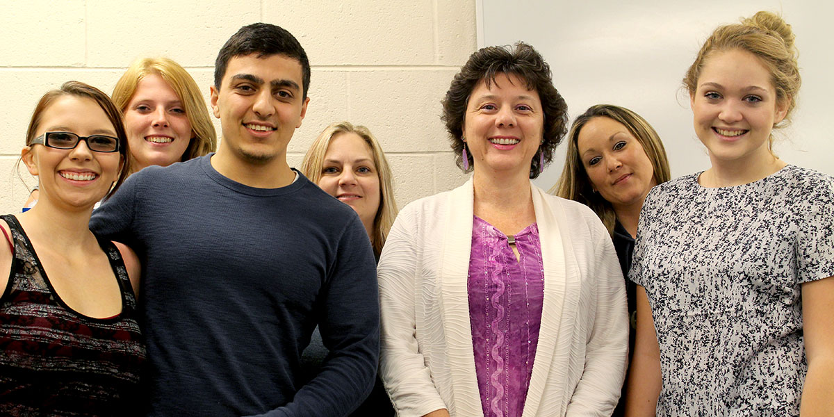 English faculty with students
