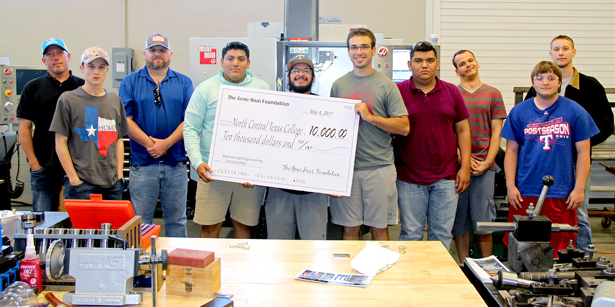 Haas Foundation Scholarship presented to machining students