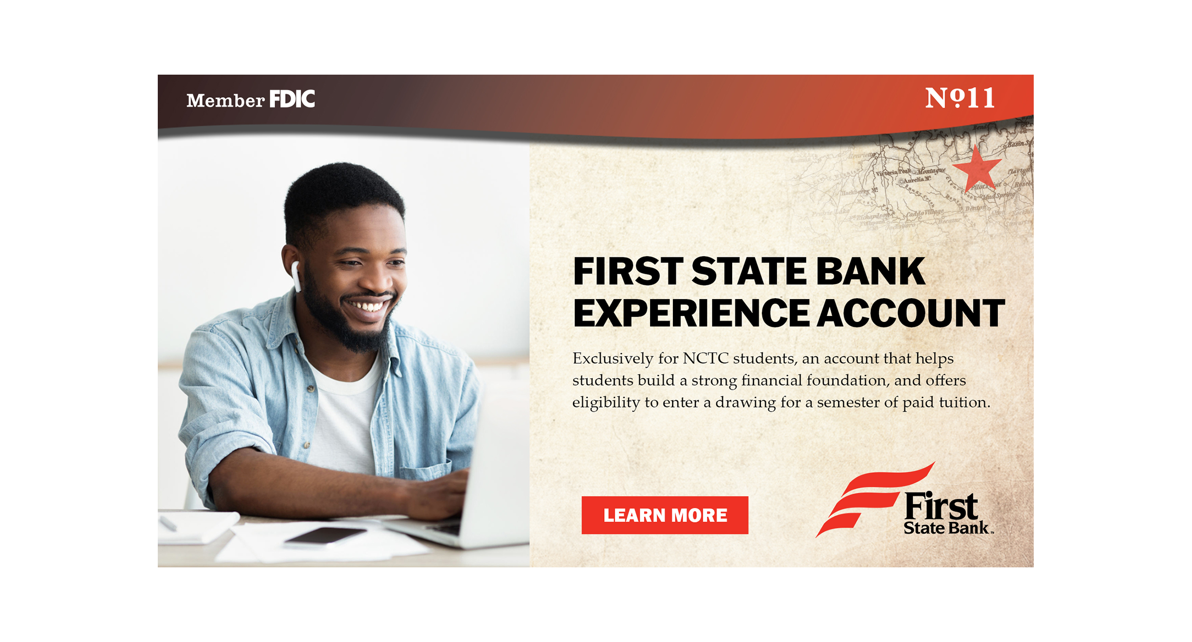 First State Bank Experience Account for NCTC Students