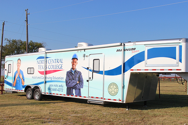 Adult and Continuing Education department's new mobile classroom trailer