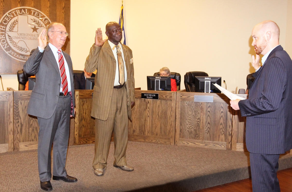 Swearing in New Board Members